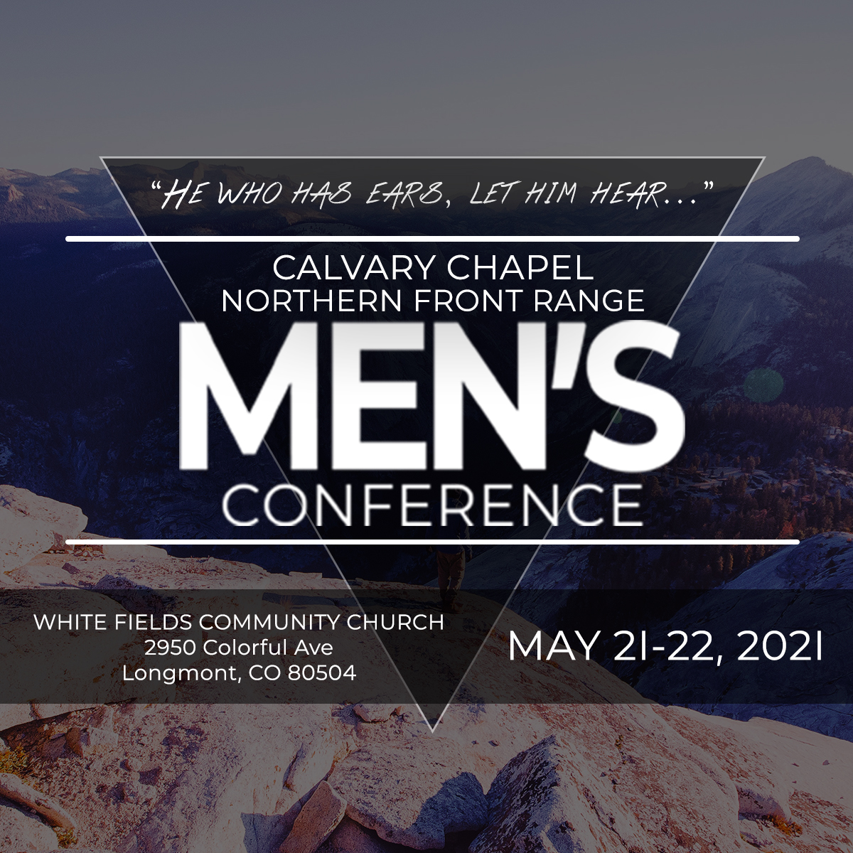 Northern Front Range Men's Conference May 21–22, 2021